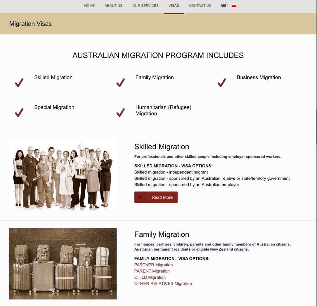 IMWeb for APIS|Visas Subpage