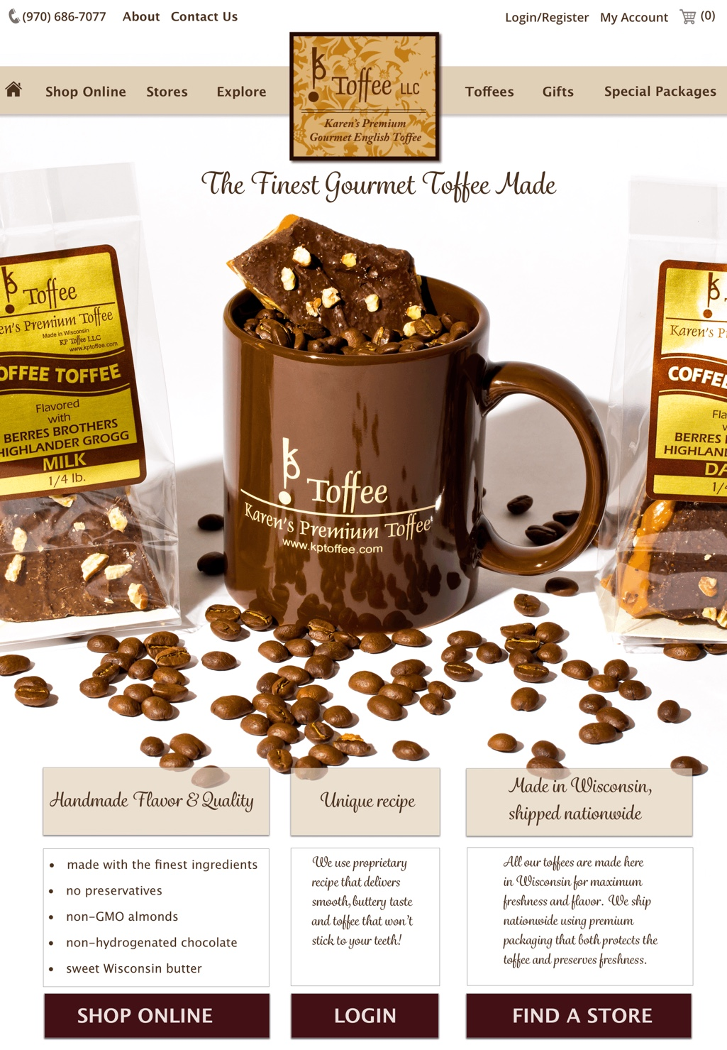 IMWeb for Toffee Shop|HomePage