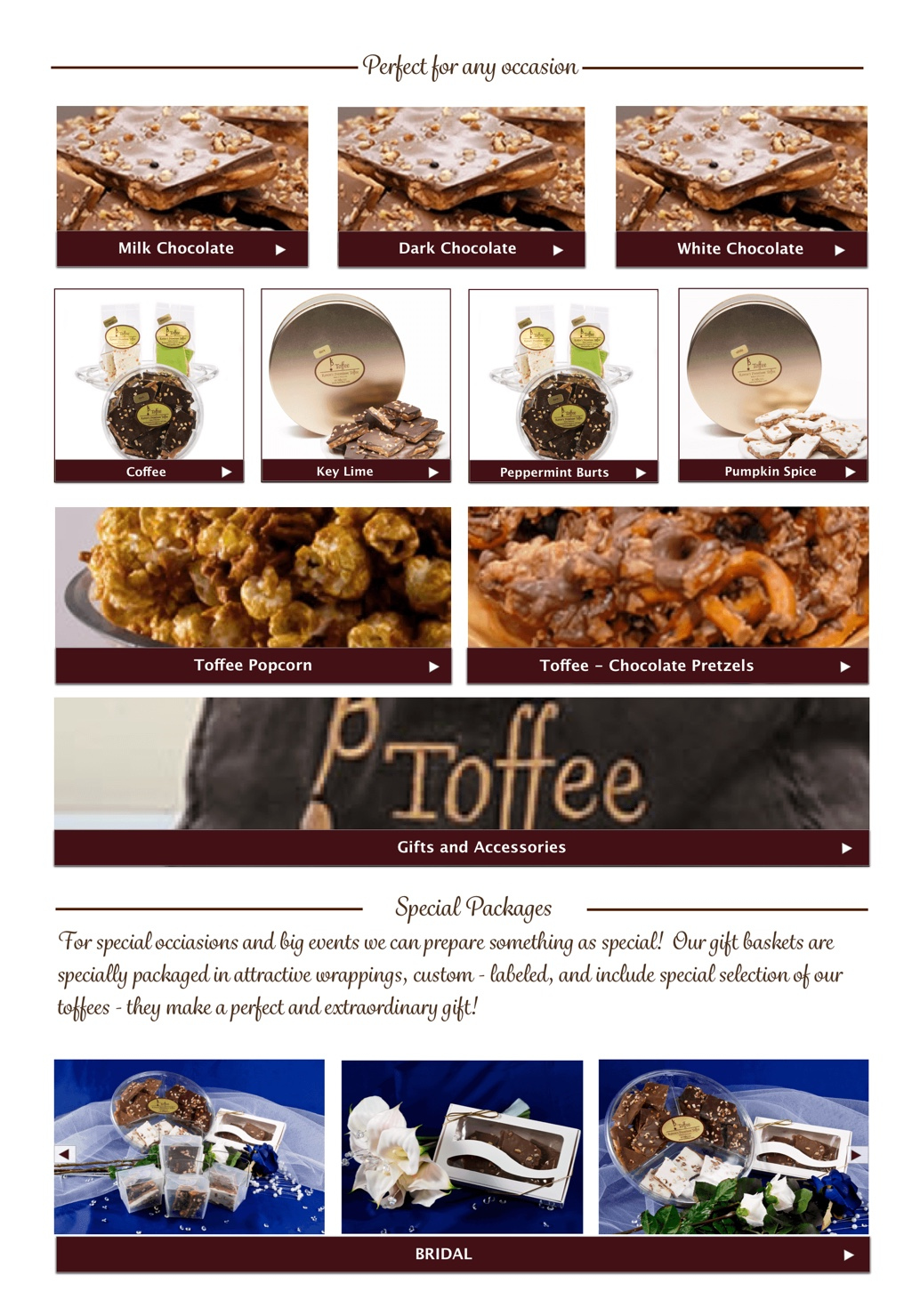 IMWeb for Toffee Shop|ShopPage