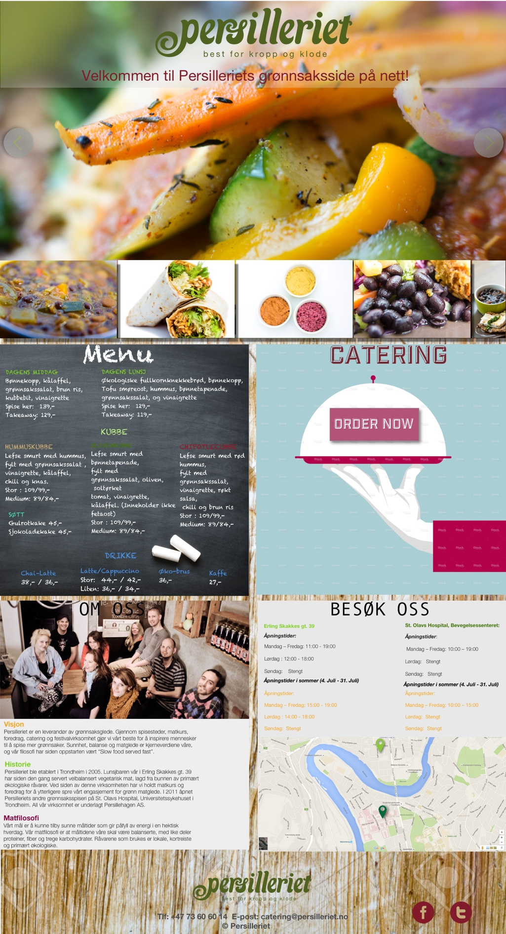 IMWeb for VeganEatery|LandingPage
